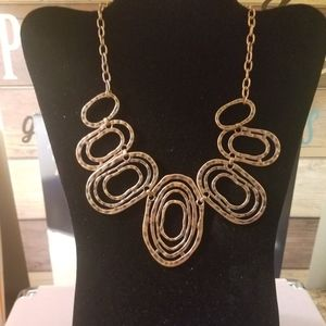 Copper Oval Necklace Costume Jewelry